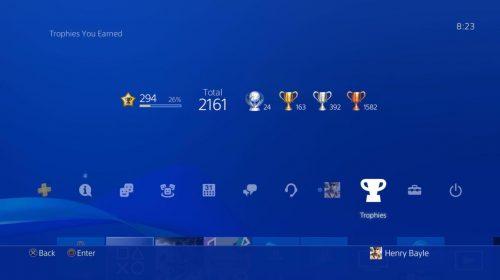 Sony anuncia mudanças no sistema de níveis de troféus do PlayStation