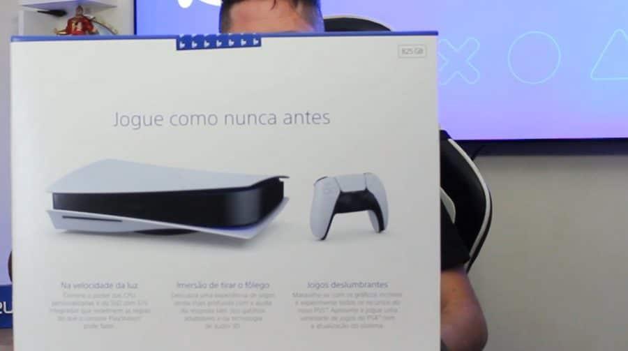 ELE CHEGOU! Unboxing do PlayStation 5 brasileiro