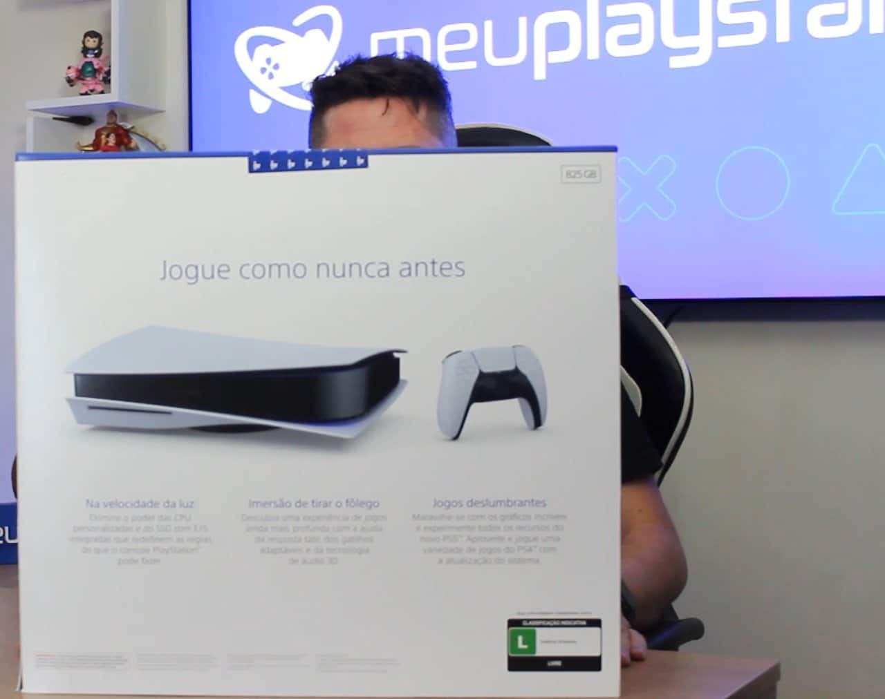 Unboxing do PlayStation 5