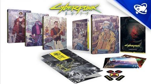 LIMITADO: Pré-venda de Cyberpunk 2077 steelbook é recheada de brindes
