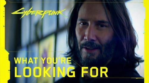 Um mês para o lançamento: Keanu Reeves estreia novo comercial de Cyberpunk 2077