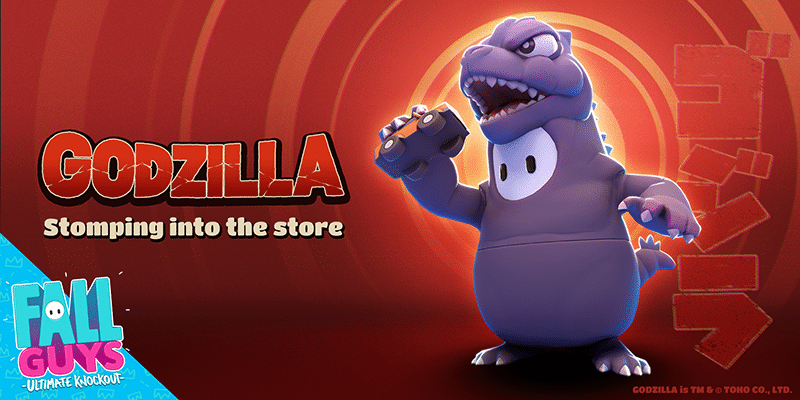 Fall Guys ganhará nova skin do Godzilla no dia 3 de novembro