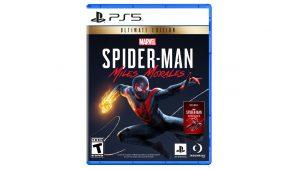 capa do jogo Marvel's Spider-Man Miles Morales Ultimate Editon do PS5 com o Miles Morales com o traje