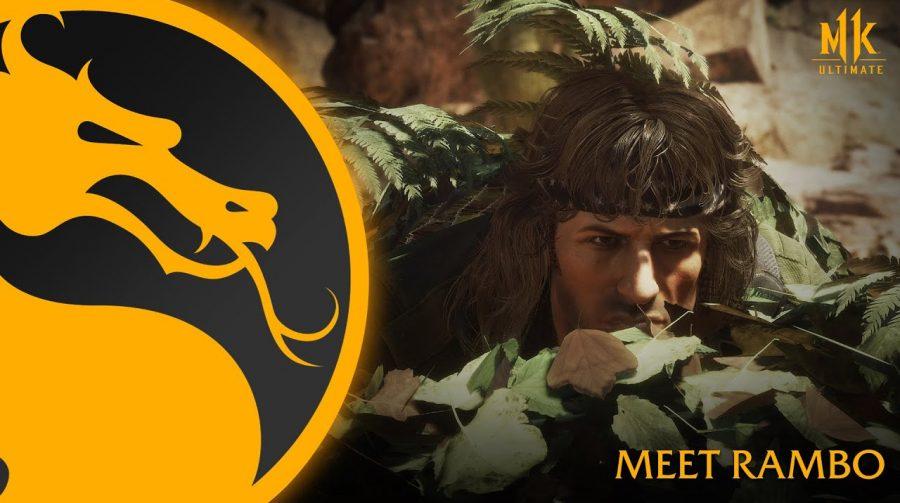 Exército de um homem só! Novo trailer detalha gameplay de Rambo no MK 11