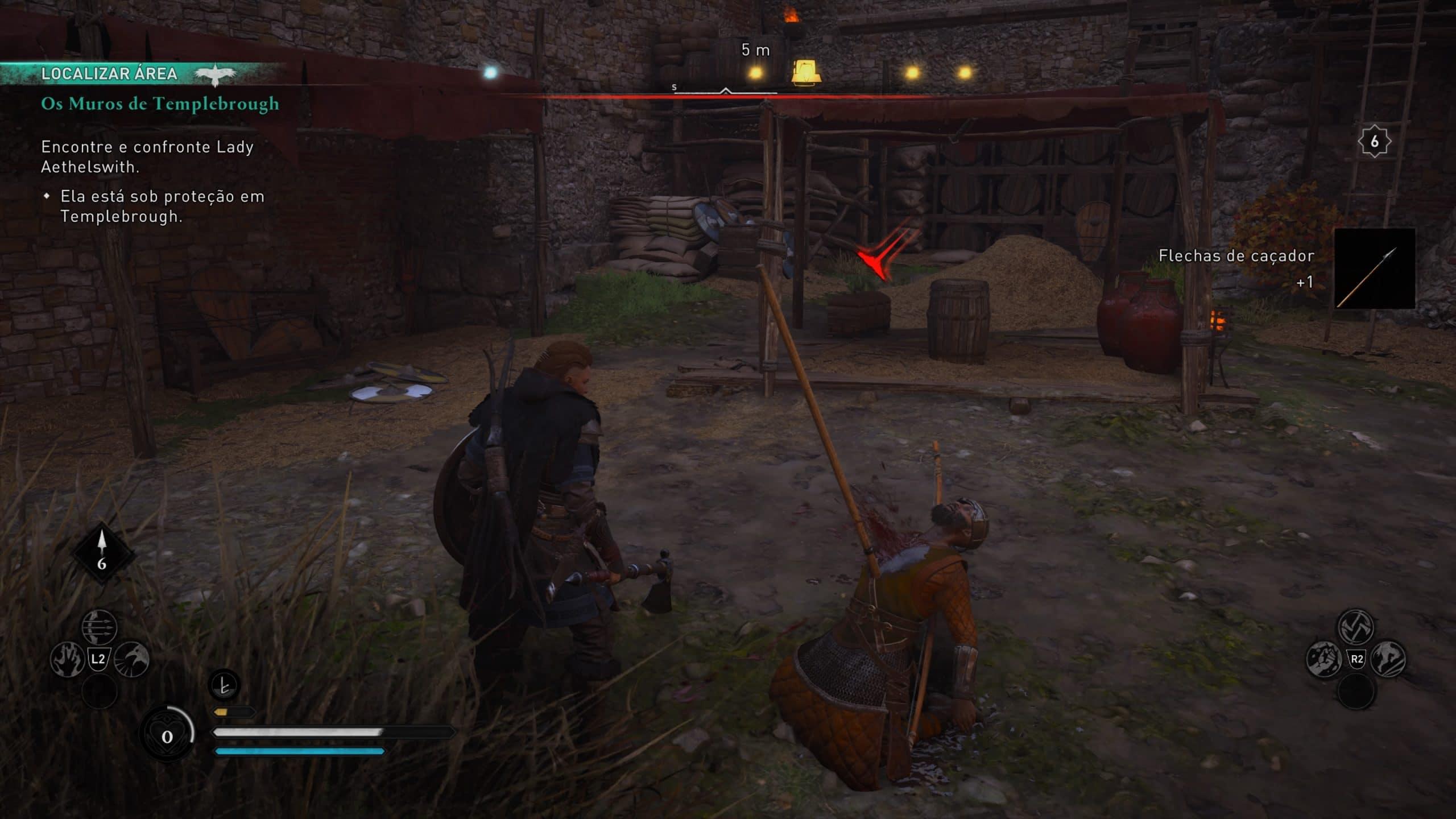 Assassin's Creed Valhalla tem combate intenso e visceral (Foto: Reprodução/Thiago Barros)