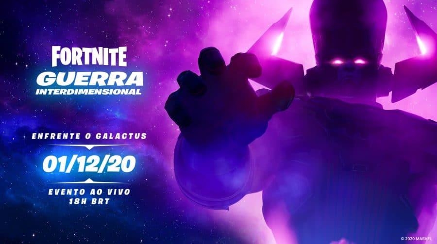 Epic Games marca data para evento de Galactus em Fortnite