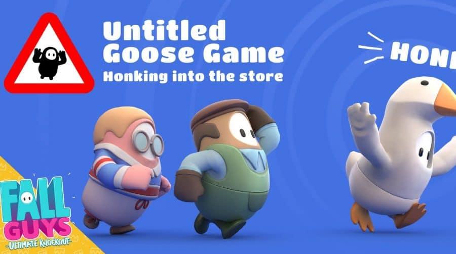 Ganso no battle royale: Fall Guys recebe skins de Untitled Goose Game