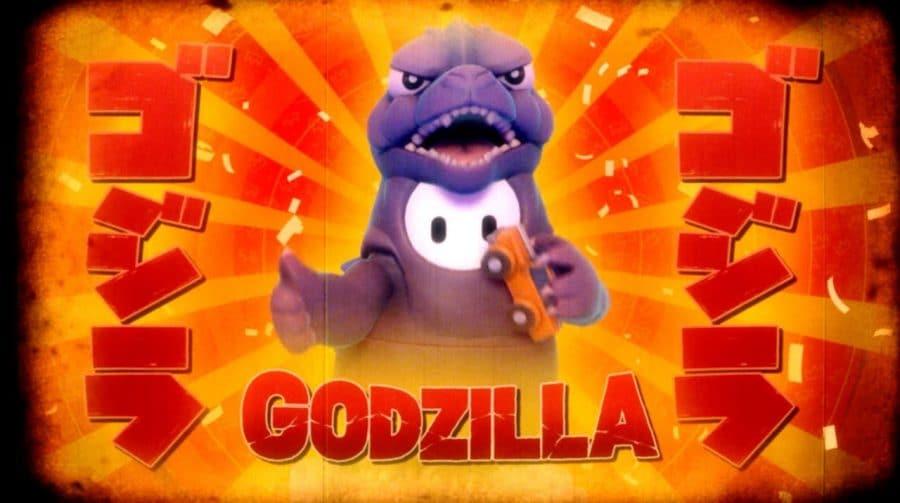 Skin do Godzilla em Fall Guys: Ultimate Knockout já está disponível