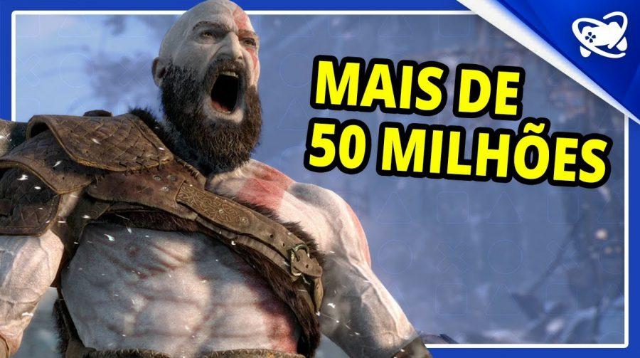 QUE NEM ÁGUA! A série GOD OF WAR passou de 50 MILHÕES de unidades vendidas!