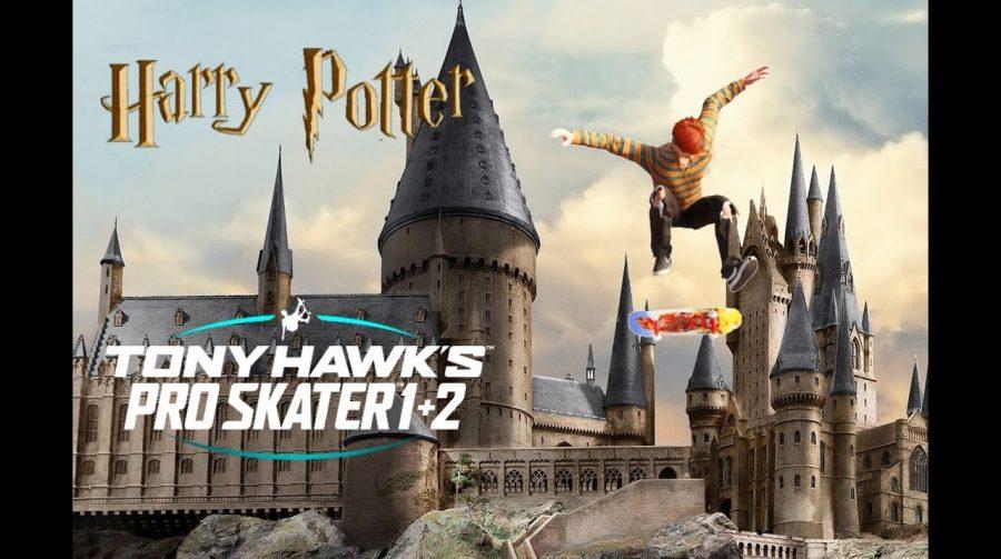Vassouras ou skates? Jogador recria Hogwarts em Tony Hawk's Pro Skater 1+2