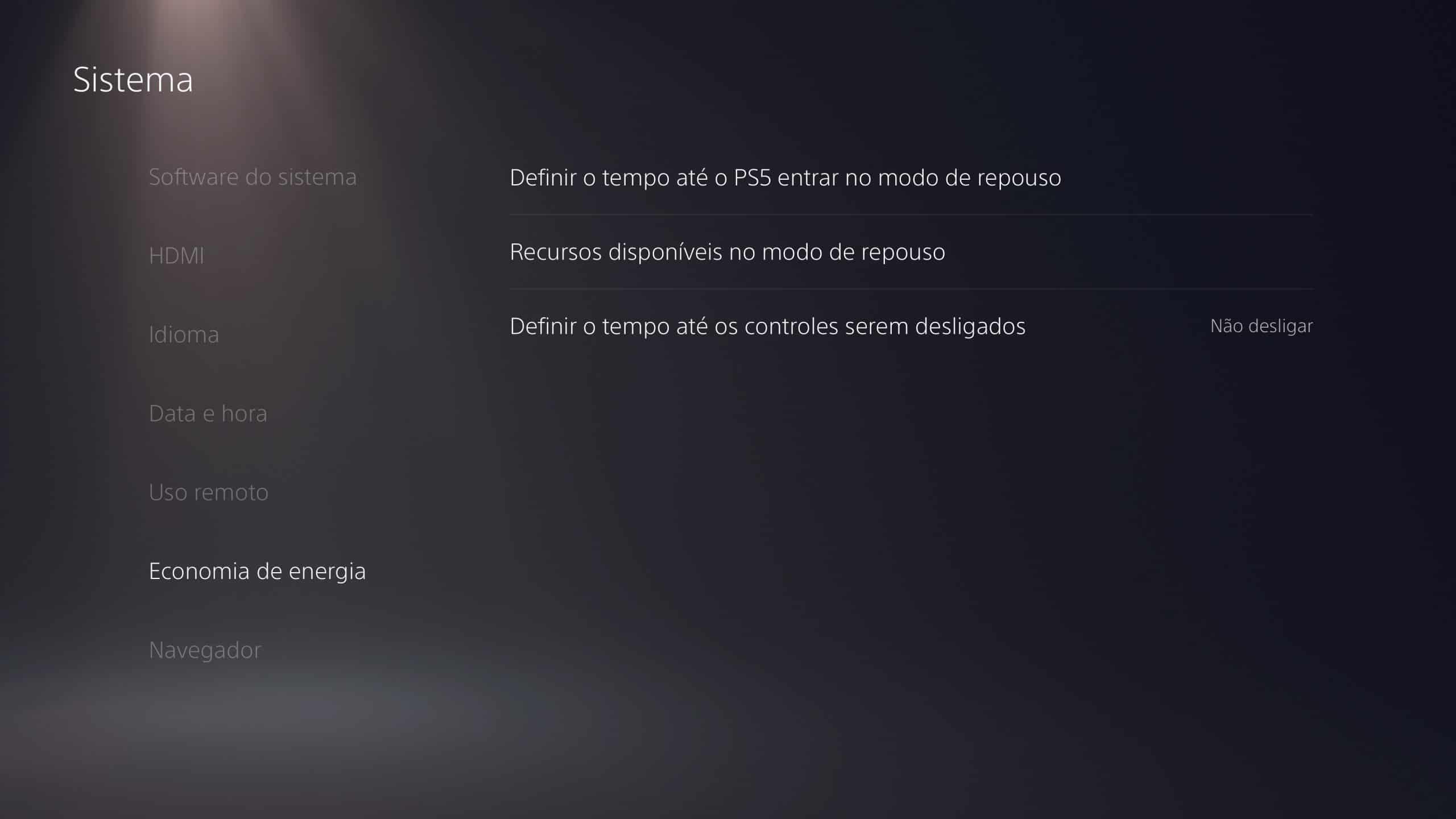 configurar o PlayStation 5 - 5
