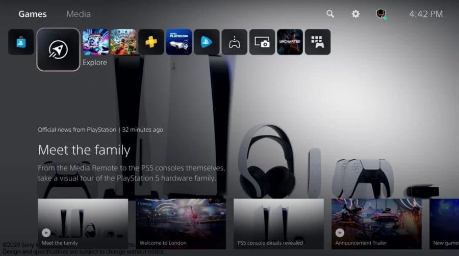 Interface do PS5: Sony pensa em adicionar elementos de personalização no futuro