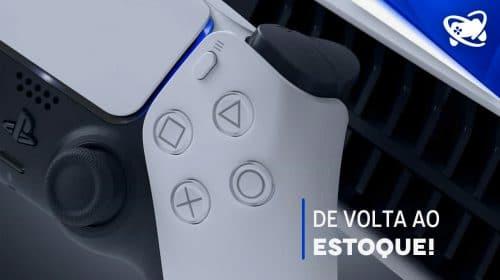 Só hoje (29/07): novo lote do PlayStation 5 à venda na Amazon