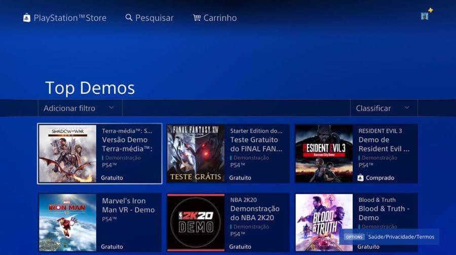 PS5 não terá suporte a maioria das demos e betas de PS4
