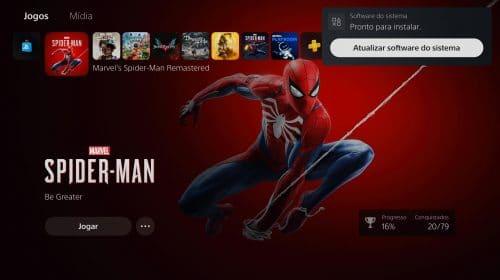 Sony lança nova atualização de sistema para o PS5