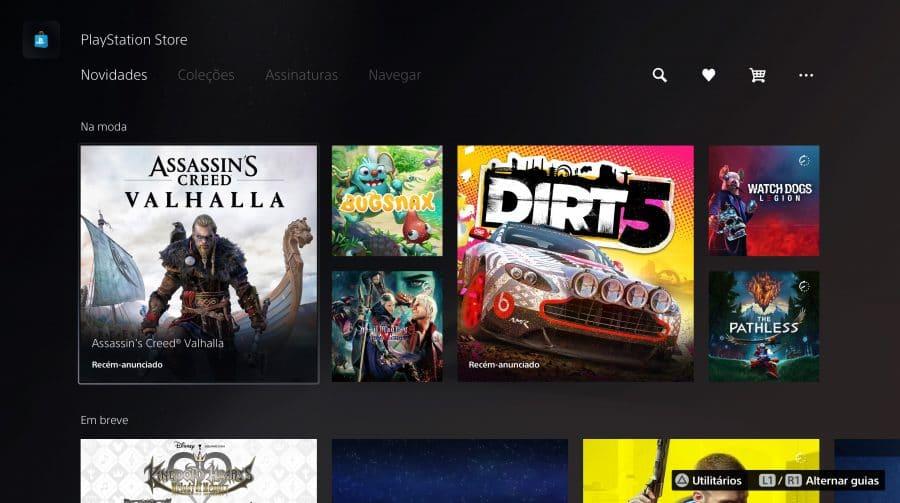 Conhecendo o PS5: veja a PlayStation Store no PlayStation 5