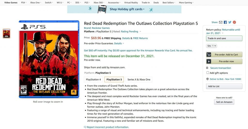 Red Dead Redemption The Outlaws Colletion