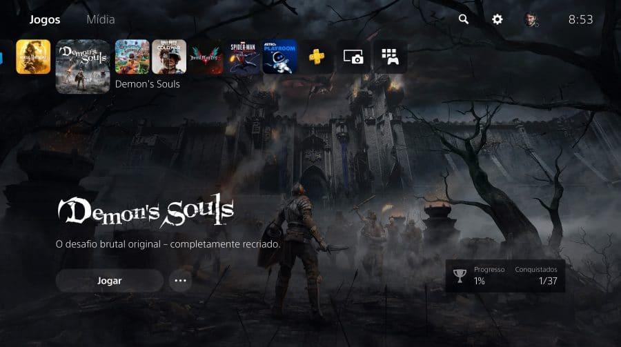 Sony lança primeiro update para sistema do PlayStation 5