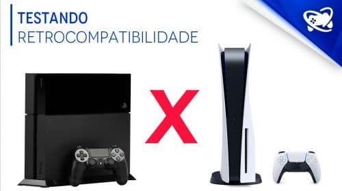Dá diferença? Testando a RETROCOMPATIBILIDADE do PS5 com o PS4