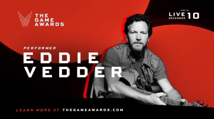 Eddie Vedder, vocalista do Pearl Jam, é anunciado como atração musical do The Game Awards 2020