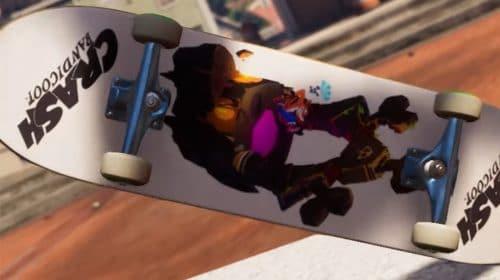 Update de Tony Hawk's Pro Skater 1+2 traz itens de Crash Bandicoot