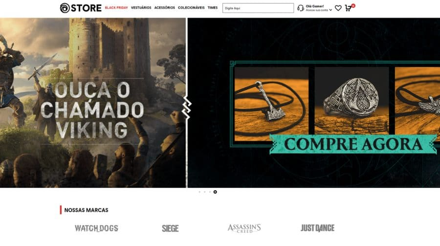 Ubisoft lança nova loja online no Brasil, a Ubisoft Store Gear