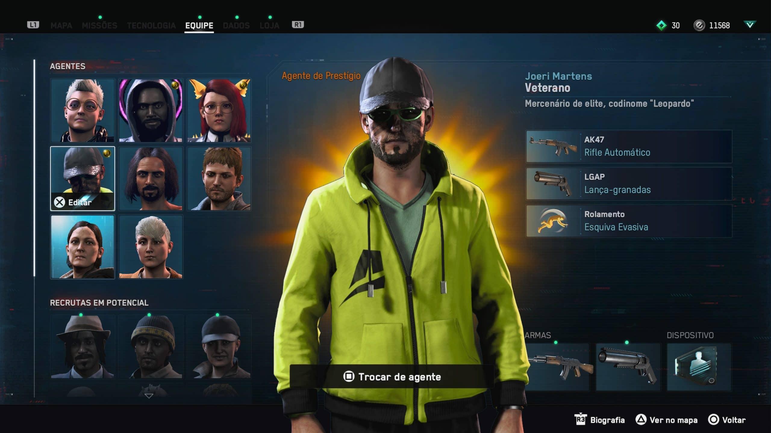 Diferentes agentes fazem gameplay ser dinâmico em Watch Dogs Legion
