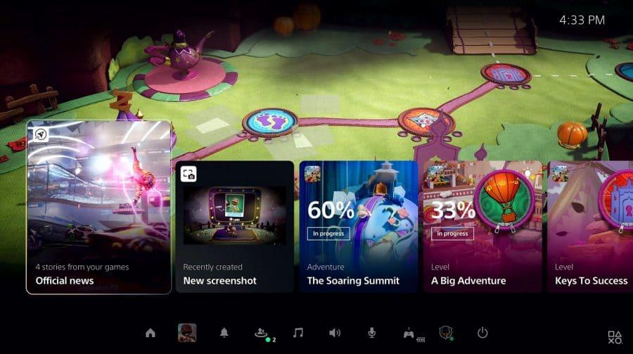 Menu do PS5 permite configurar pré-definições dos jogos