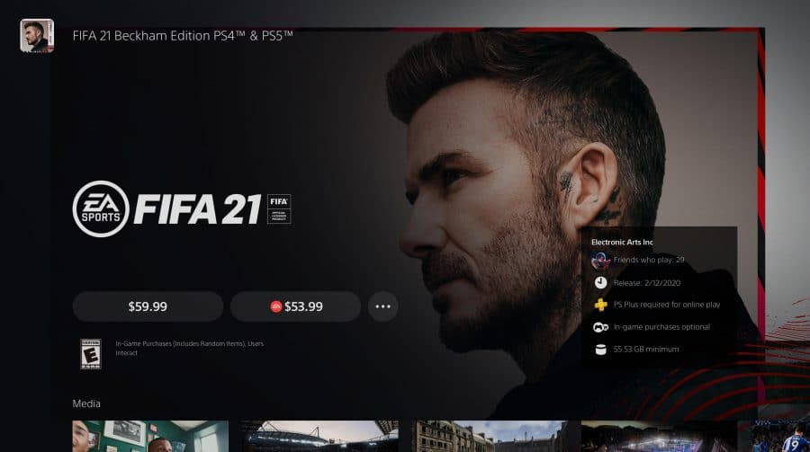 EA admite falha no upgrade de FIFA 21 para PS5: