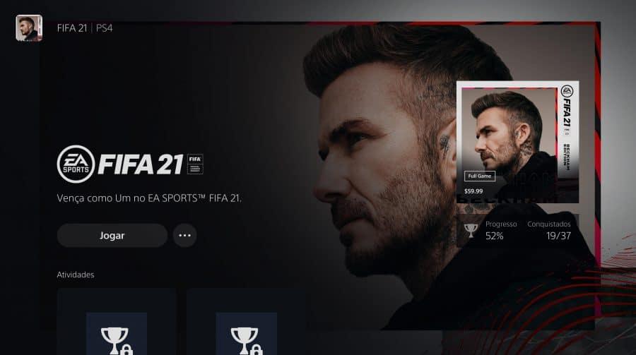 Upgrade de FIFA 21 para o PS5 segue sem solução após uma semana