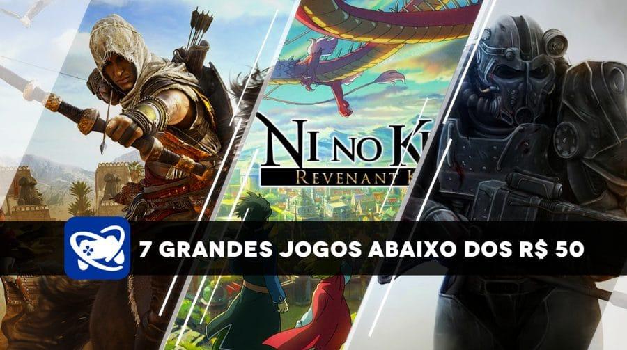 Confira 7 grandes jogos no PS4 abaixo do R$ 50 na PS Store