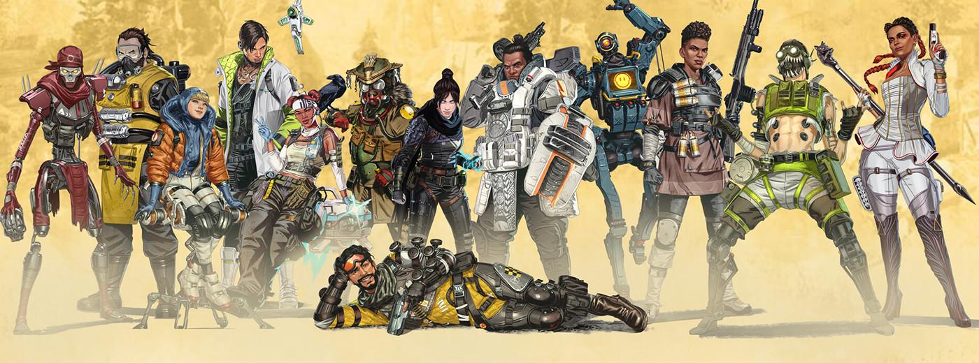 Personagens de Apexs Legends, jogo desenvolvido pela EA, que também é responsável por FIFA 21