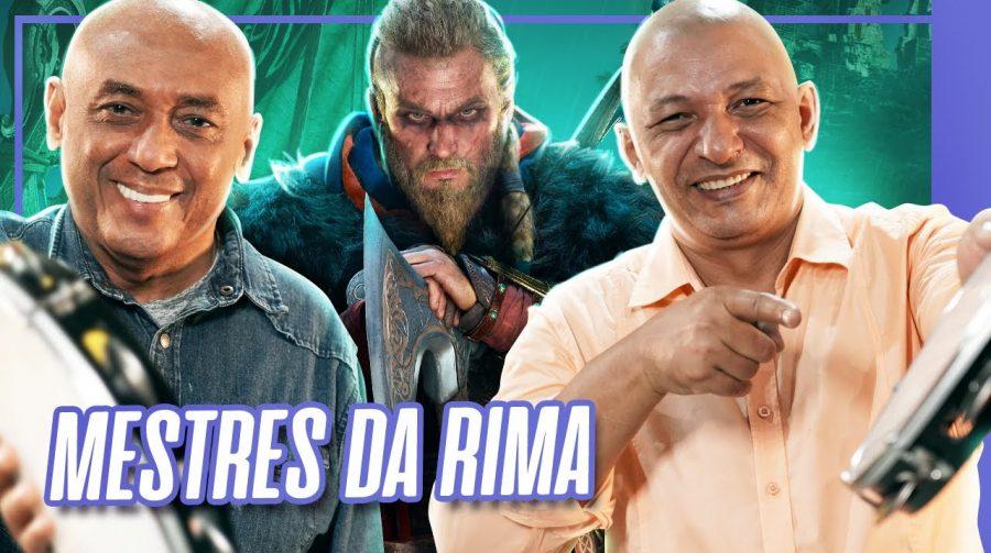 Dupla Caju e Castanha faz um repente para promover Assassin's Creed Valhalla