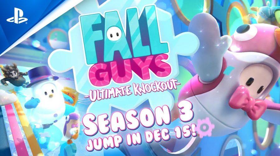 Trailer da nova temporada de Fall Guys mostra desafios, roupas e mais!