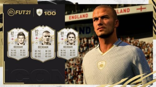 FIFA 21: cartas icon de David Beckham no FUT recebem ratings