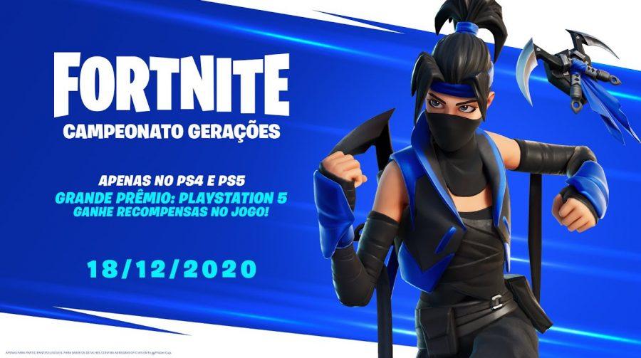 Campeonato de Fortnite presenteará vencedor com um PlayStation 5