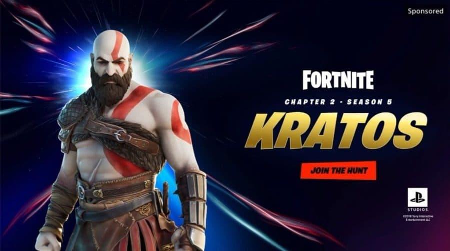GAROTO! Kratos será uma skin de Fortnite, indica PS Store