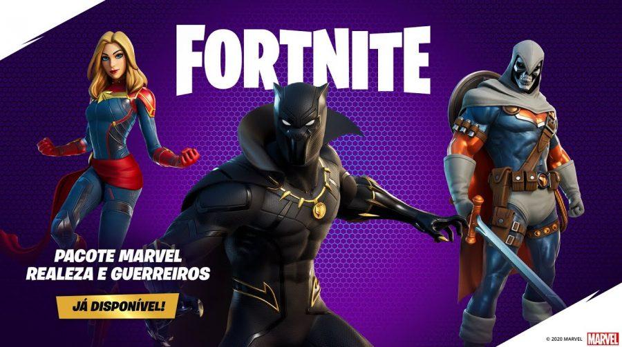 Pantera Negra, Capitã Marvel e Treinador chegam ao Fortnite