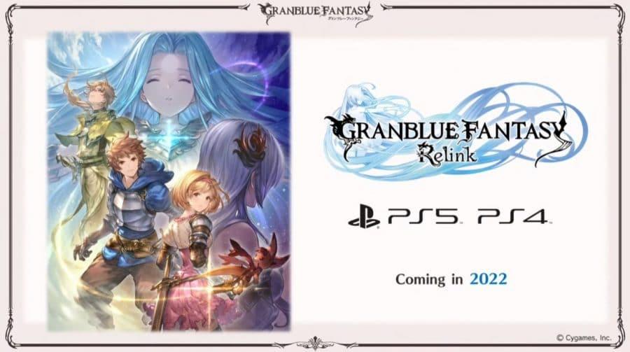 Granblue Fantasy Relink chega em 2022 para PS4 e PS5