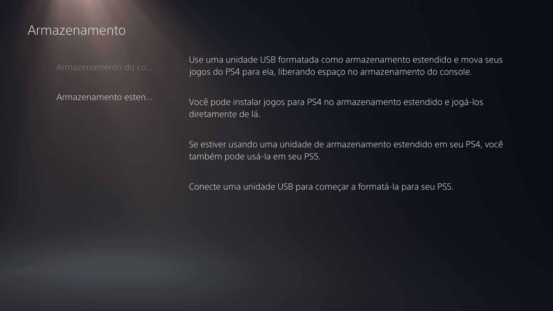 HD externo do PS4 no PS5 - dúvidas sobre o PS5