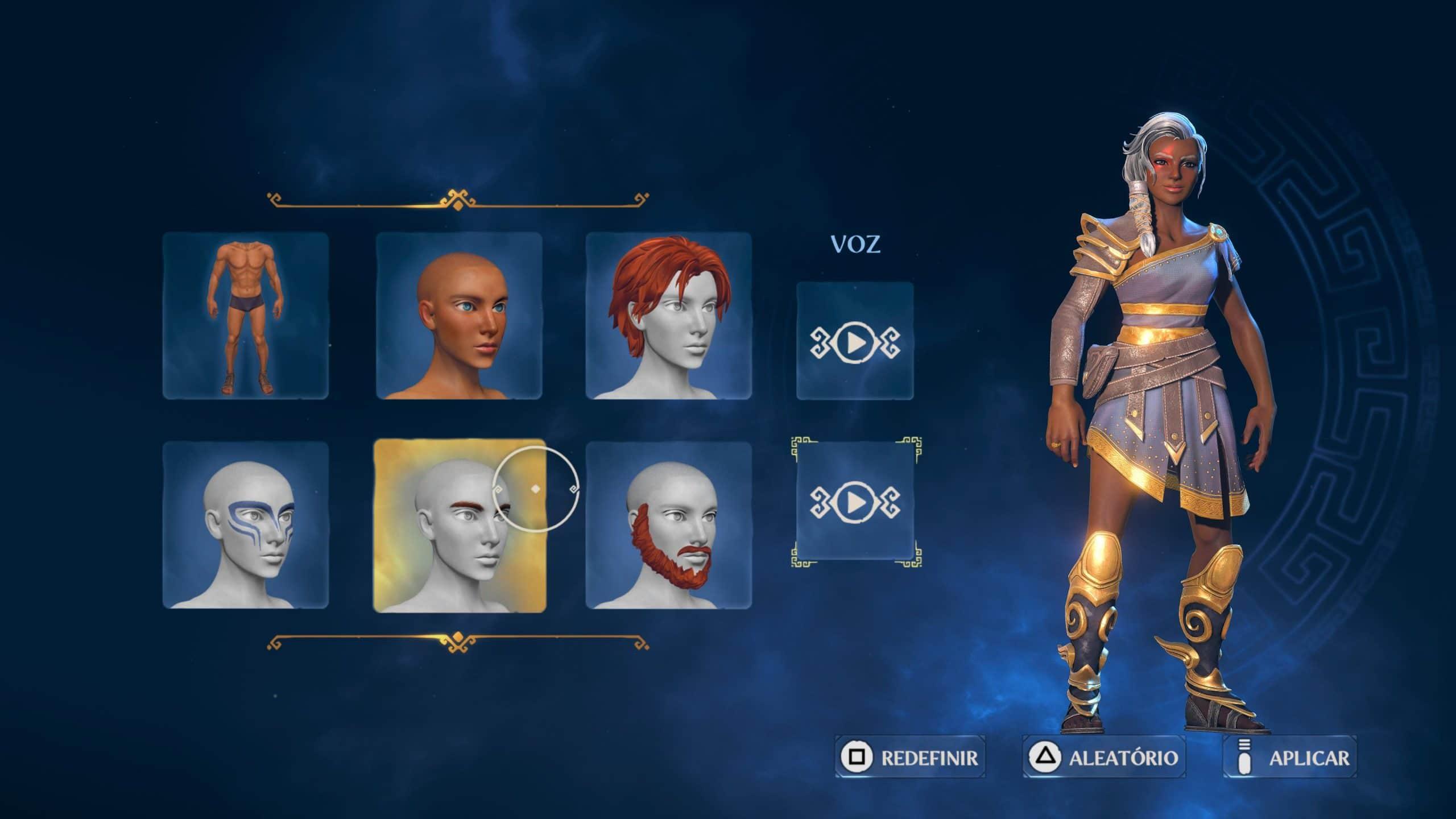 Jogador cria personagem como quiser em Immortals Fenyx Rising