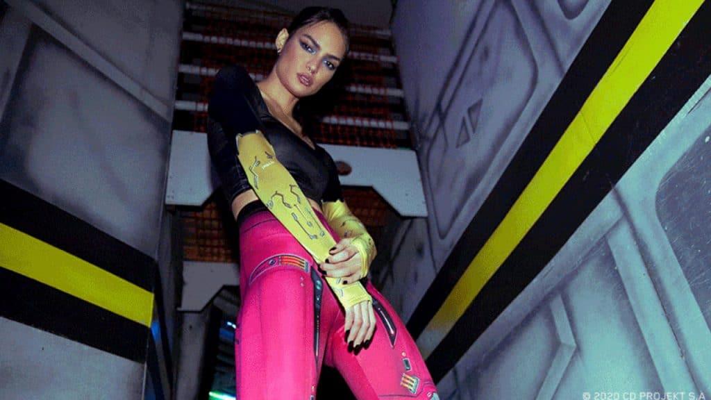 Linhas de roupas de Cyberpunk 2077