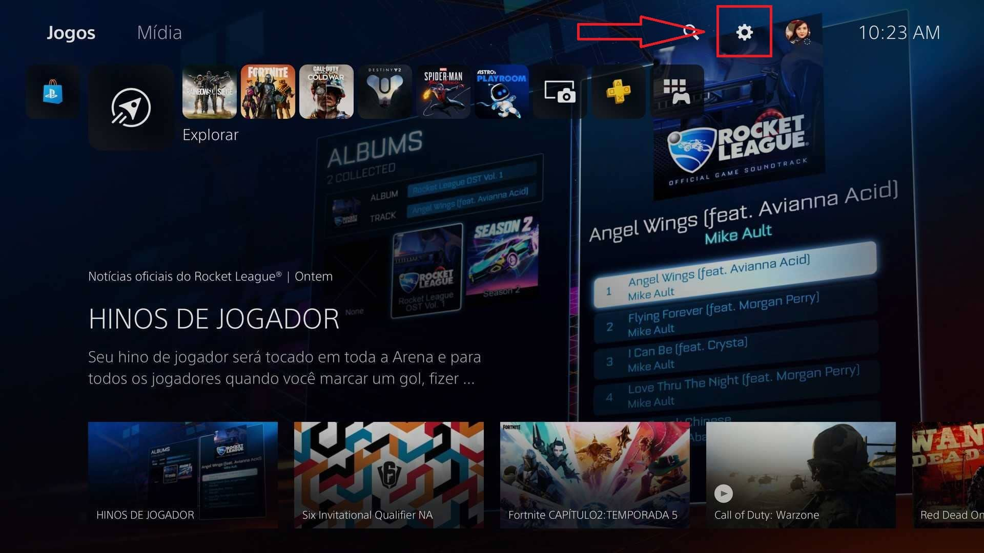 Configurações PlayStation 5