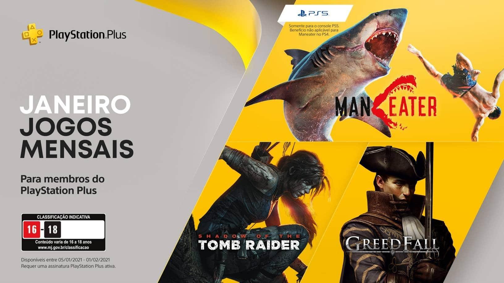 PlayStation Plus de janeiro