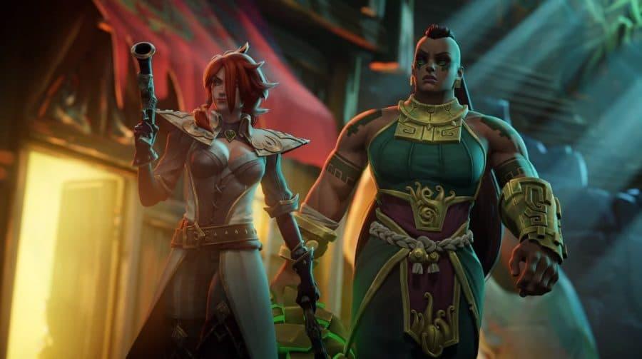 Detalhes das personagens Miss Fortune e Illaoi.