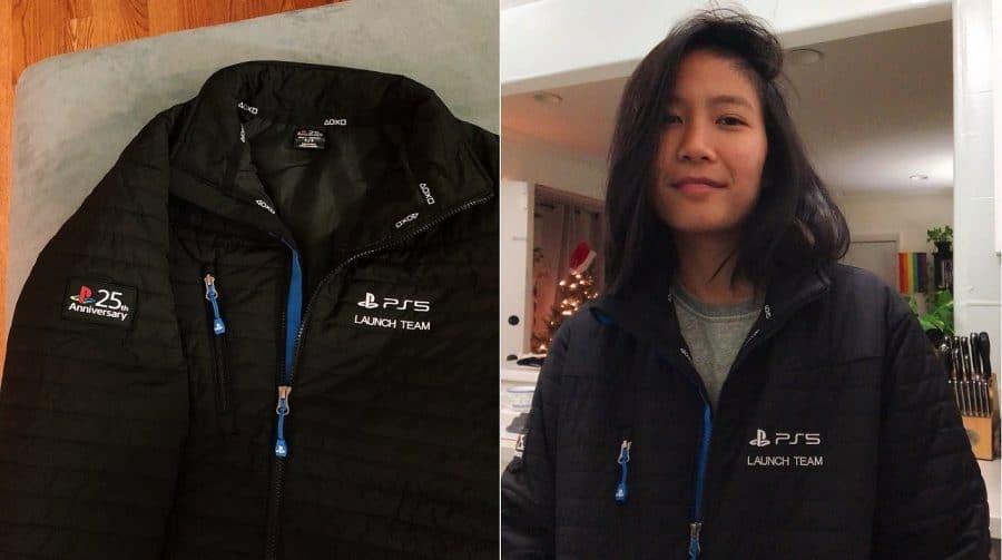 Sony presenteia funcionários com jaquetas personalizadas do PS5