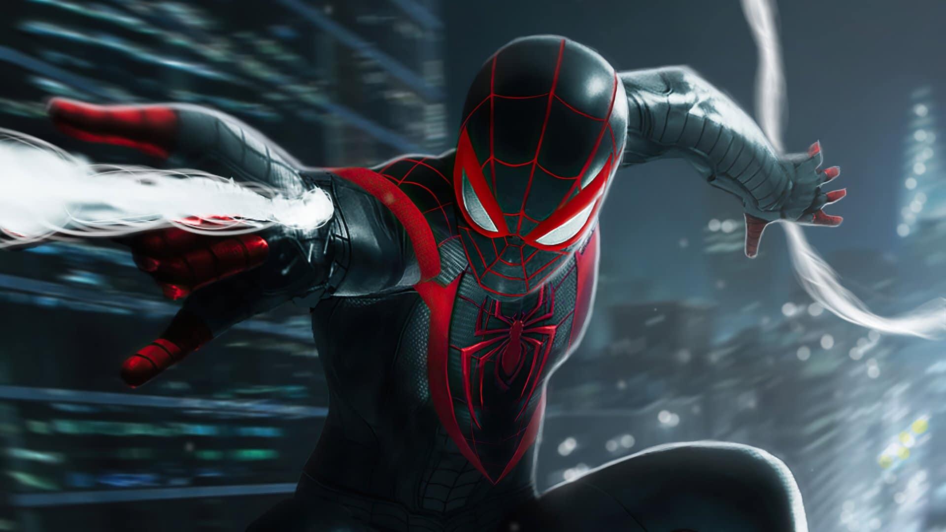 Cena de Spider-Man Miles Morales.