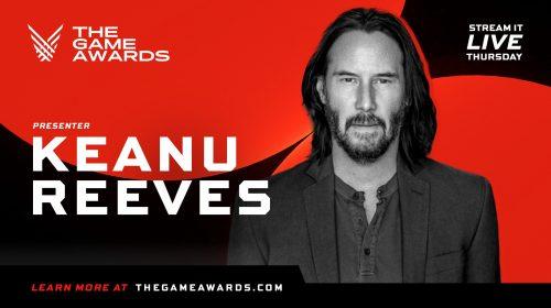 Keanu Reeves será um dos apresentadores do The Game Awards 2020