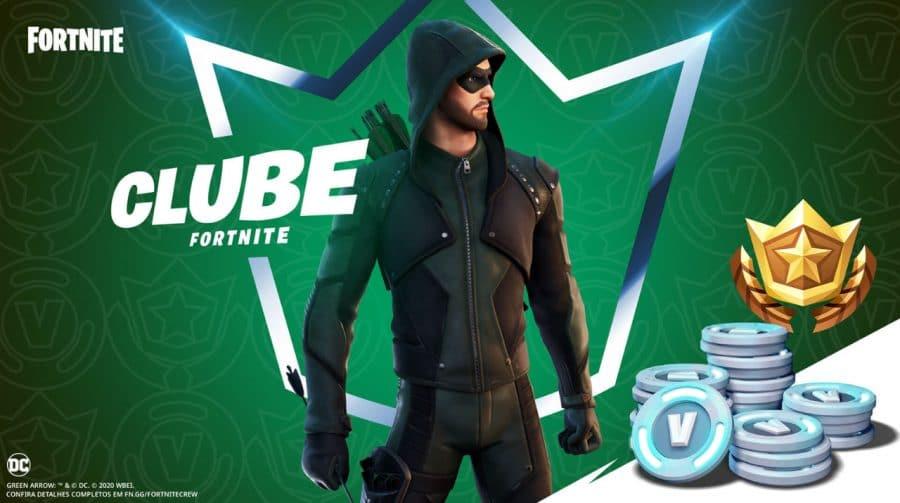 Arqueiro Verde chega ao Clube Fortnite no pacote de janeiro de 2021