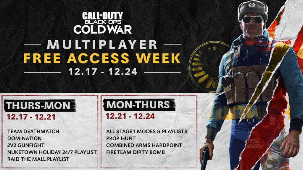multiplayer gratuito de Black Ops Cold War